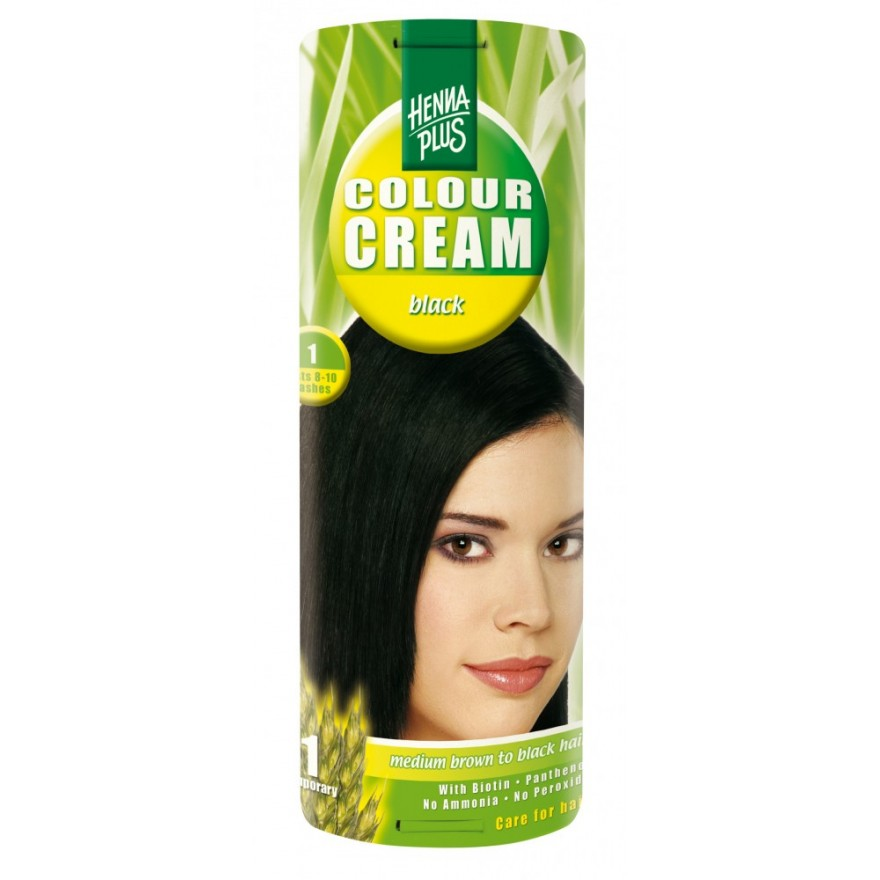 Hennaplus Colour Cream Schwarz 1